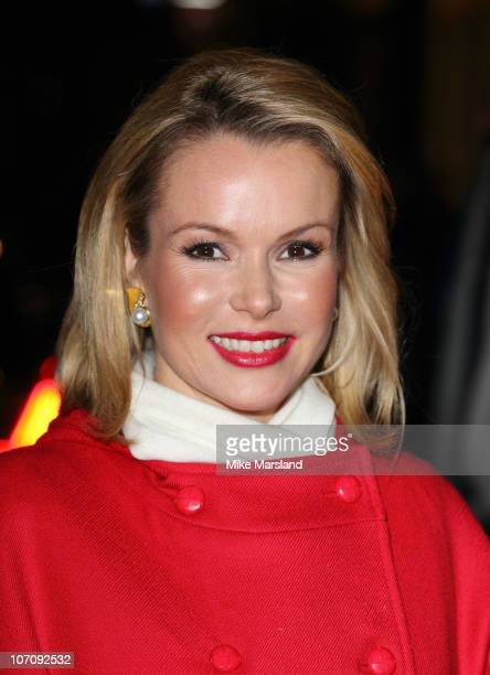 Amanda Holden switches on the Christmas Lights at Elizabeth Street on November 23 2010 in London England