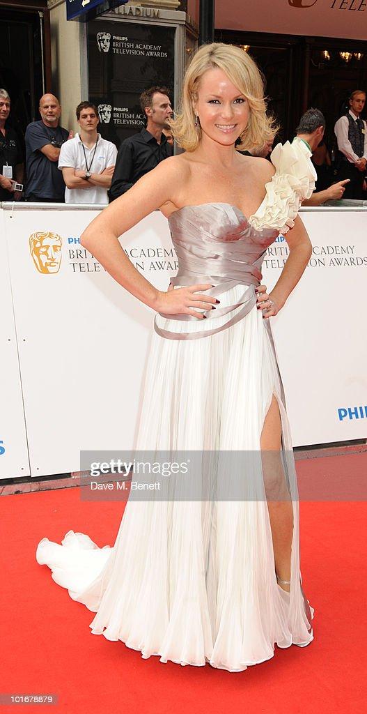 Amanda Holdon arrives at the Philips British Academy Television Awards at the London Palladium on June 6, 2010 in London, England.