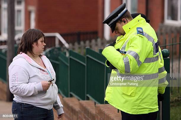 Amanda Hyett arrives back at her home in Moorside Road on April 7 2008 in Dewsbury near Leeds England Hyett a neighbour of Shannon Matthews the nine...