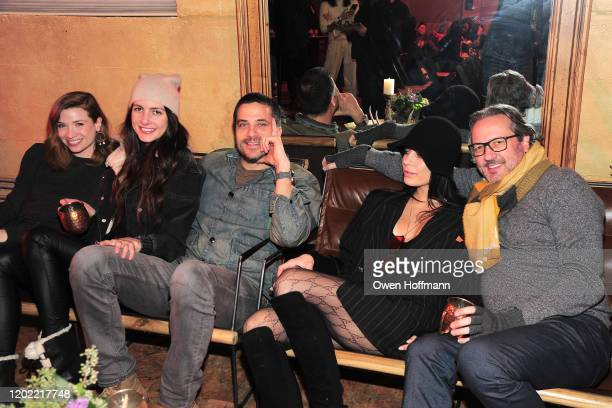 Amanda Jaros Ivana Ivezaj Sooney Kadouh Nadia Ivezaj and John Daugherty attends SITARA screening hosted by Gucci and CHIME FOR CHANGE at The Shop on...