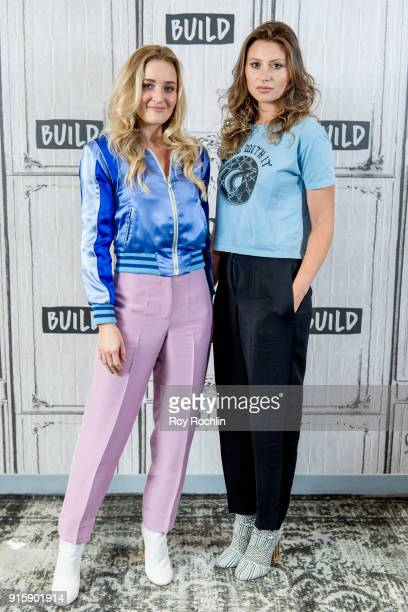 Amanda Joy Michalka and Alyson Michalka of Aly AJ discuss Ten Years with the Build Series at Build Studio on February 8 2018 in New York City