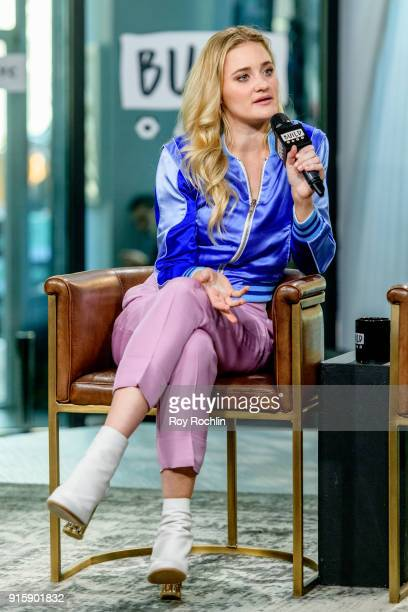 Amanda Joy Michalka of Aly AJ discusses 'Ten Years' with the Build Series at Build Studio on February 8 2018 in New York City