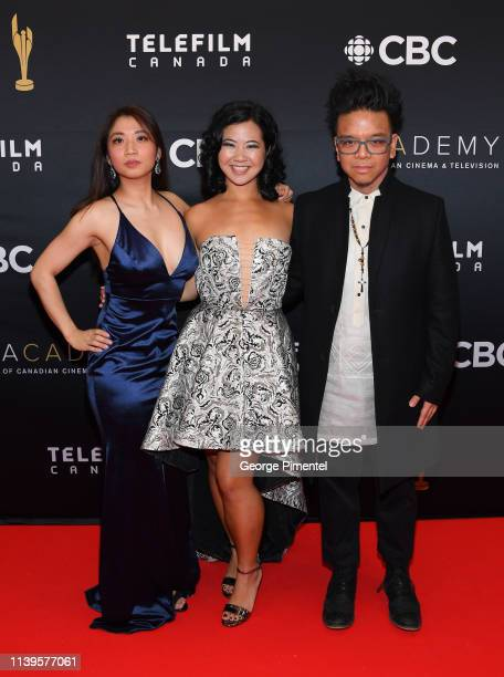Amanda Joy Samantha Wan and Romeo Candido attend the 2019 Canadian Screen Awards Broadcast Gala at Sony Centre for the Performing Arts on March 31...