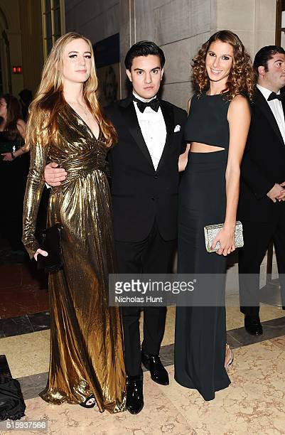 Amanda Kahn Kevin Michael Barba and Ashley Platt attend The Frick Collection Young Fellows Ball 2016 at The Frick Collection on March 10 2016 in New...