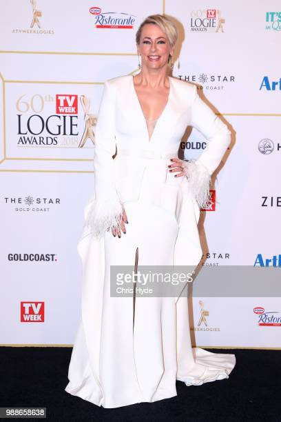 Amanda Keller arrives at the 60th Annual Logie Awards at The Star Gold Coast on July 1 2018 in Gold Coast Australia