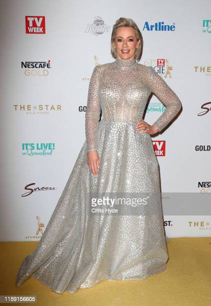 Amanda Keller arrives at the 61st Annual TV WEEK Logie Awards at The Star Gold Coast on June 30 2019 on the Gold Coast Australia