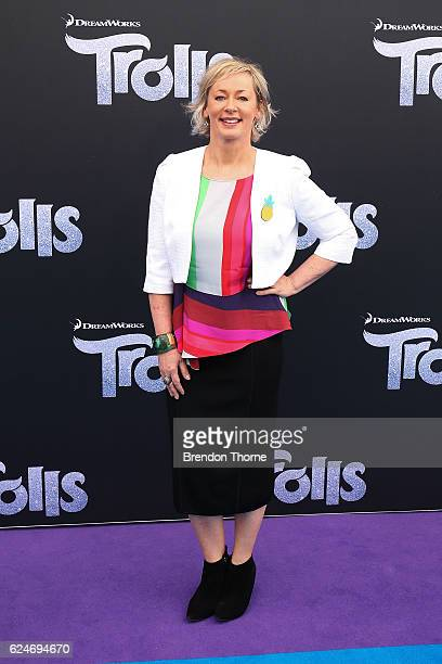 Amanda Keller arrives at the 'Trolls' Australian Premiere on November 20 2016 in Sydney Australia
