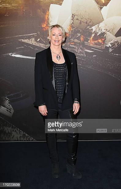 Amanda Keller arrives at the 'World War Z' Australian Premiere at the Star on June 9 2013 in Sydney Australia