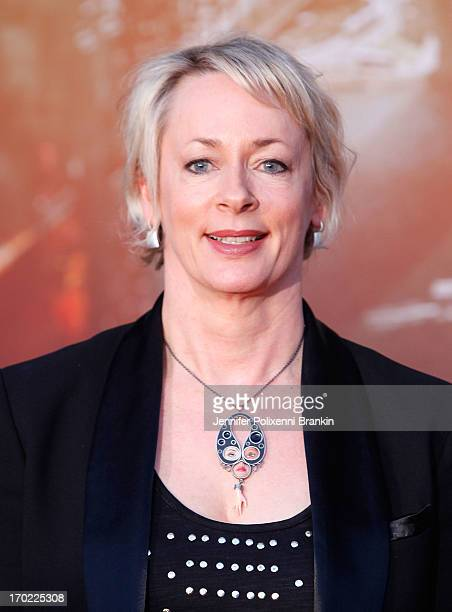 Amanda Keller arrives at the 'World War Z' Australian premiere at the Star on June 9 2013 in Sydney Australia
