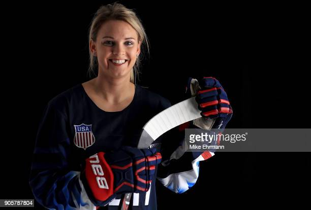 Amanda Kessel of the United States Women's Hockey Team poses for a portrait on January 16 2018 in Wesley Chapel Florida