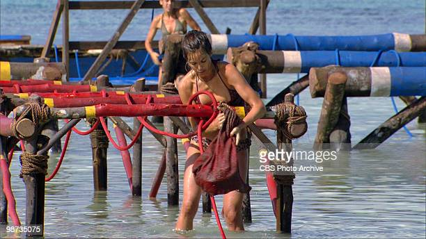 Amanda Kimmel and Danielle DiLorenzo during the immunity challenge 'Strung Out' during ninth episode of SURVIVOR HEROES VS VILLAINS Thursday April 15...
