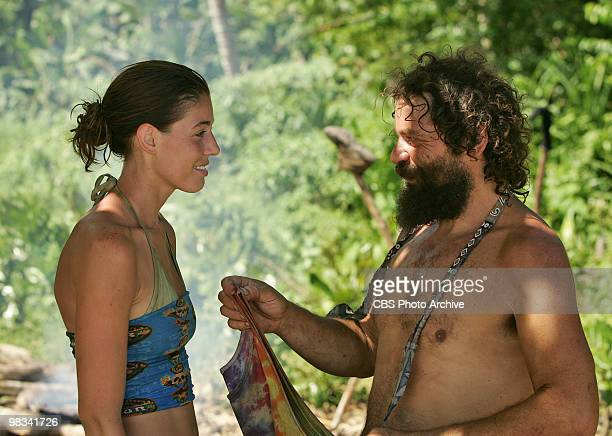 Amanda Kimmel and Rupert Boneham during the sixth episode of SURVIVOR HEROES VS VILLAINS Wednesday March 24 on the CBS Television Network