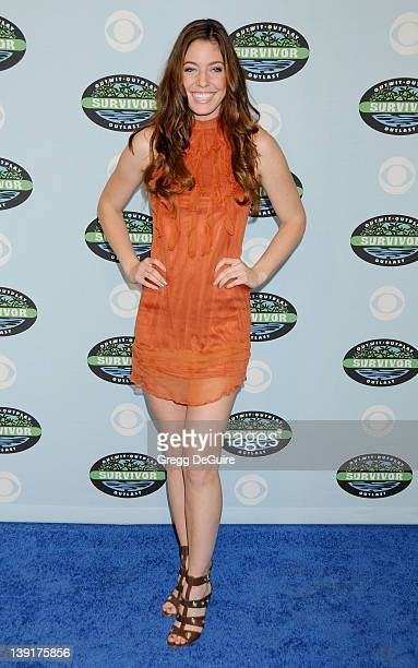 Amanda Kimmel arrives at Survivor 10 Year Anniversary Party at CBS Television City on January 9 2010 in Los Angeles California