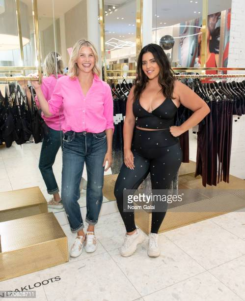 Amanda Kloots and Denise Bidot attend the Beyond Yoga x Amanda Kloots Collaboration Launch Event on August 27 2019 in New York City