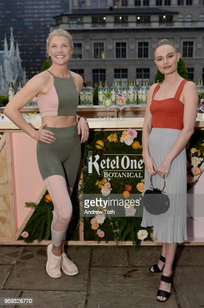 Amanda Kloots and Kate Bosworth hanging out by the Living Botanical bar at the Ketel One Botanical Launch Event on May 16 2018 in New York City