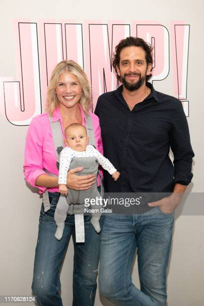 Amanda Kloots and Nick Cordero attend the Beyond Yoga x Amanda Kloots Collaboration Launch Event on August 27 2019 in New York City