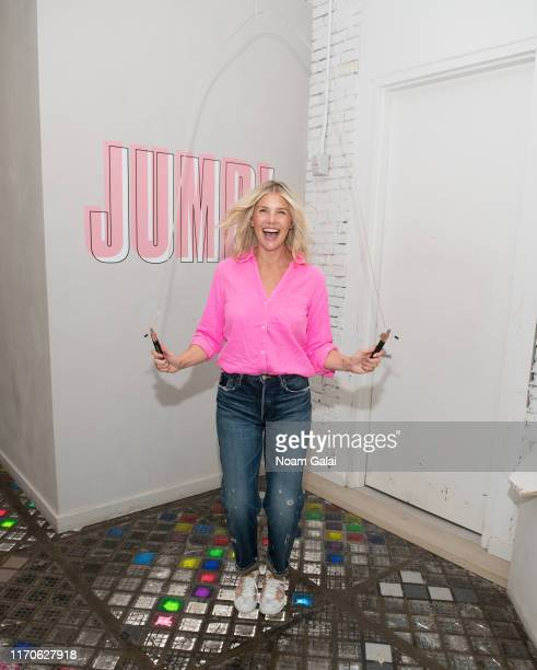 Amanda Kloots attends the Beyond Yoga x Amanda Kloots Collaboration Launch Event on August 27 2019 in New York City