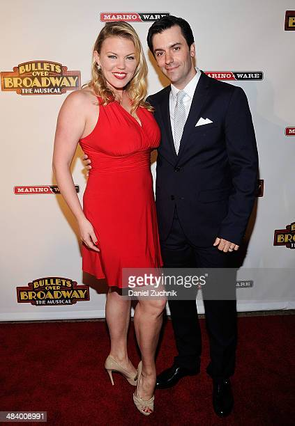 Amanda Kloots Larsen attends the Bullets Over Broadway opening night celebration at The Metropolitan Museum on April 10 2014 in New York City