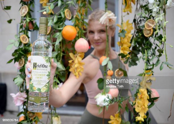 Amanda Kloots with the new Ketel One Botanical Cucumber and Mint at the Launch of Ketel One Botanical on May 16 2018 in New York City