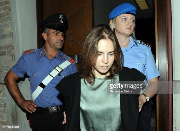 Amanda Knox attends her appeal hearing at Perugia's Court of Appeal on September 29, 2011 in Perugia, Italy. Amanda Knox and Raffaele Sollecito are...