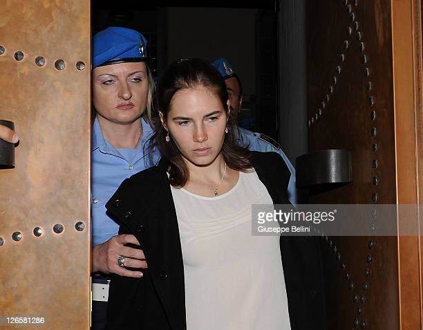 Amanda Knox attends her appeal hearing on September 26, 2011 in Perugia, Italy. Amanda Knox is awaiting the verdict of her appeal that could see her...
