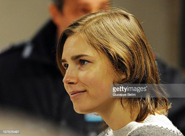 Amanda Knox attends her appeal hearing over the guilty verdict in the murder of Meredith Kercher, on December 11, 2010 in Perugia, Italy. Amanda knox...