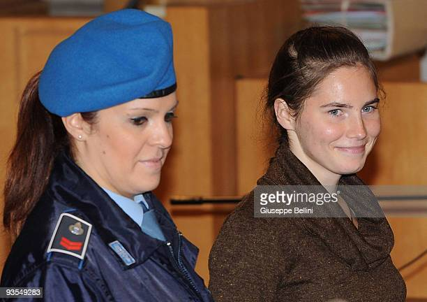 Amanda Knox attends the Meredith Kercher Trial for the closing arguments. Amanda Knox and her former Italian boyfriend Raffaele Sollecito are charged...