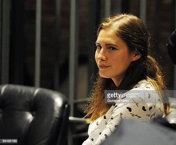 Amanda Knox attends the Meredith Kercher Trial for the closing arguments on November 30, 2009 in Perugia, Italy. Amanda Knox and her former Italian...