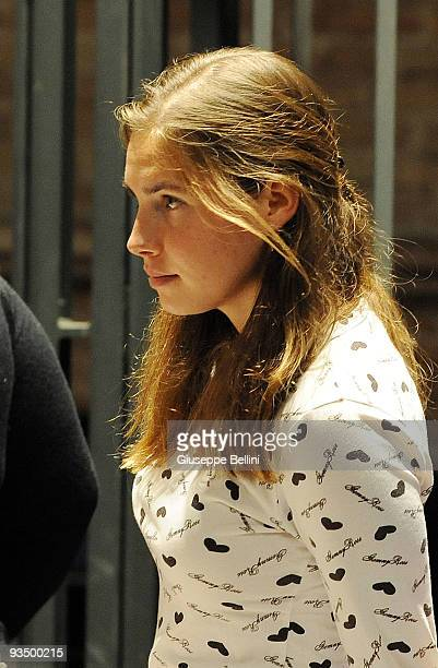 Amanda Knox attends the Meredith Kercher Trial for the closing arguments on November 30 2009 in Perugia Italy Amanda Knox and her former Italian...