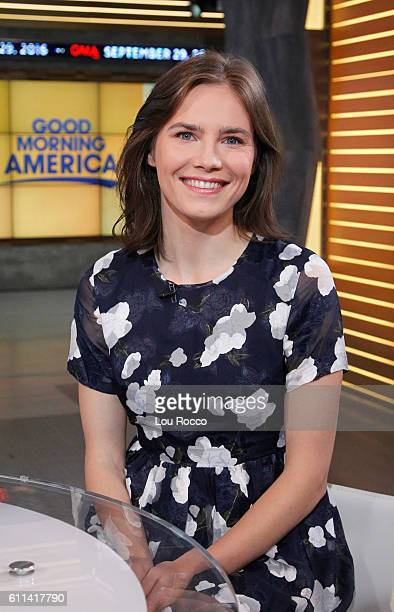 AMERICA Amanda Knox is a guest on 'Good Morning America' Thursday September 29 airing on the ABC Television Network AMANDA