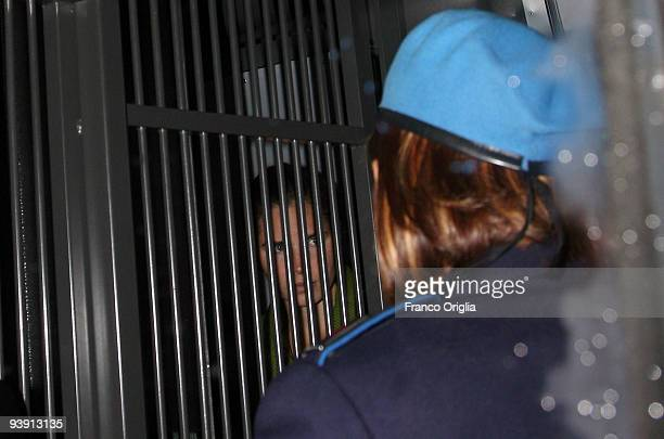 Amanda Knox is driven into court at midnight to hear the sentence in her murder trial on December 5, 2009 in Perugia, Italy. Knox and her former...