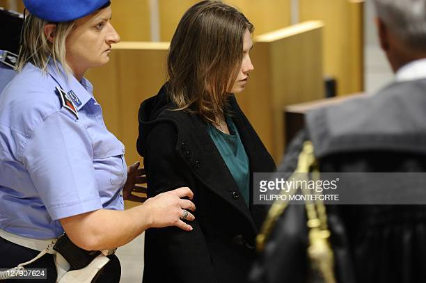US Amanda Knox takes place for the last day of her appeal trial on October 3 2011 at Perugia's court The last day of Amanda Knox's murder appeal in...