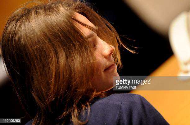 US Amanda Knox takes place in court before the start of a session of her appeal trial in Perugia's courthouse on March 12 2011 Knox was sentenced to...
