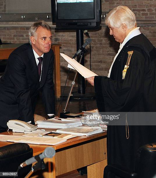 Amanda Knox's defence lawyers Carlo Dalla Vedova and Luciano Ghirga attend the Meredith Kercher Trial for the closing arguments at the courthouse on...