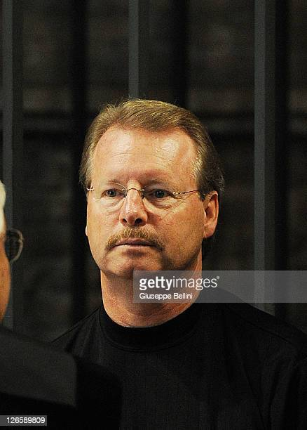 Amanda Knox's father Curt Knox attends the appeal hearing on September 26 2011 in Perugia Italy Amanda Knox and Raffaele Sollecito are awaiting the...
