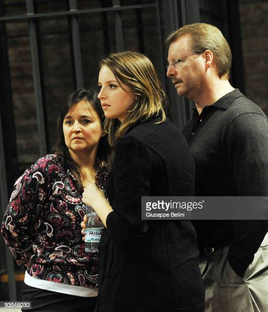 Amanda Knox's mother Edda Mellis sister Deanna Knox and father Curt Knox attend the Meredith Kercher Trial for the closing arguments at the...