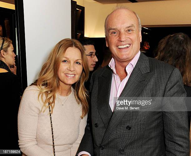 Amanda Kyme and Sir Nicholas Coleridge attend the launch of CH Carolina Herrera's White Shirt Collection at their new Fulham Road store on November...