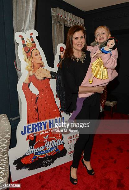 """Amanda Lamb and daughter Willow attend the press night performance of """"Snow White And The Seven Dwarfs"""" at the Richmond Theatre on December 11, 2014..."""