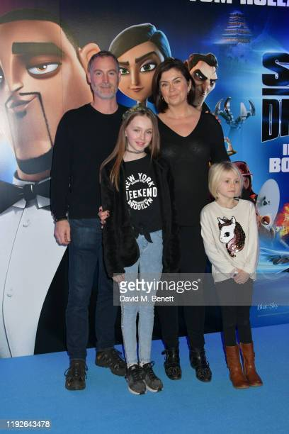 "Amanda Lamb and family attend a Gala Screening of ""Spies In Disguise"" at the BFI Southbank on December 08, 2019 in London, England."