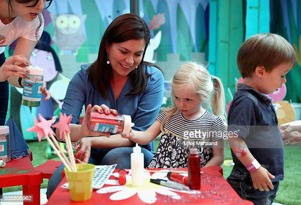 Amanda Lamb and her daughter attend the launch of the new Sky Kids Cafe, an imaginative play and themed cafe pop-up to celebrate the new Sky Kids app...