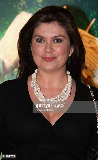 Amanda Lamb arrive at the Cirque du Soleil Quidam Gala Premiere at the Royal Albert Hall on January 6 2009 in London England