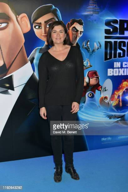 """Amanda Lamb attends a Gala Screening of """"Spies In Disguise"""" at the BFI Southbank on December 08, 2019 in London, England."""
