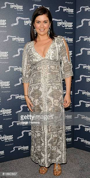 Amanda Lamb attends Capital's Dinner On The River on June 16 2008 in London England