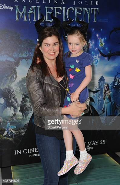 Amanda Lamb attends Celebrity Screening Of Maleficent at Odeon Leicester Square on May 25 2014 in London England