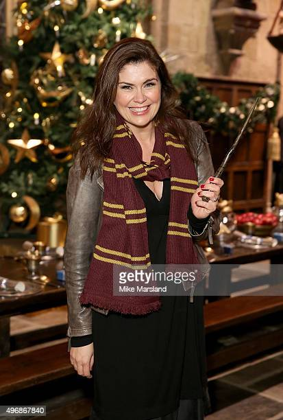 Amanda Lamb attends the Launch Of Hogwarts In The Snow at Warner Bros. Studio Tour London on November 12, 2015 in Watford, England.
