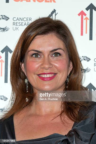 Amanda Lamb attends the Stand Up To Cancer fundraiser at 3 Mills Studio on October 18 2012 in London England