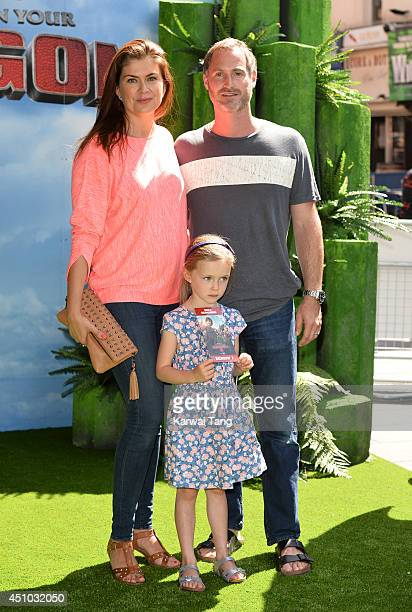 """Amanda Lamb attends the UK Gala Screening of """"How To Train Your Dragon 2"""" in 3D at Vue West End on June 22, 2014 in London, England."""