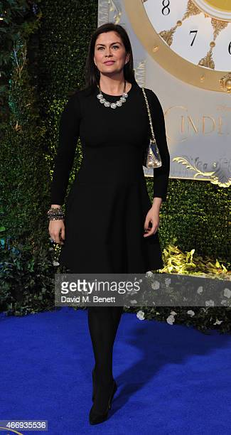 """Amanda Lamb attends the UK Premiere of """"Cinderella"""" at Odeon Leicester Square on March 19, 2015 in London, England."""