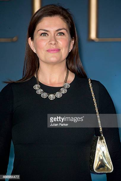 Amanda Lamb attends the UK Premiere of Cinderella at Odeon Leicester Square on March 19 2015 in London England