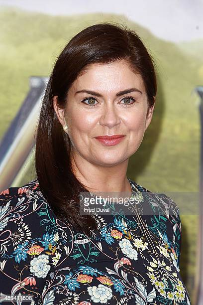 "Amanda Lamb attends the World Premiere of ""Pan"" at Odeon Leicester Square on September 20, 2015 in London, England."